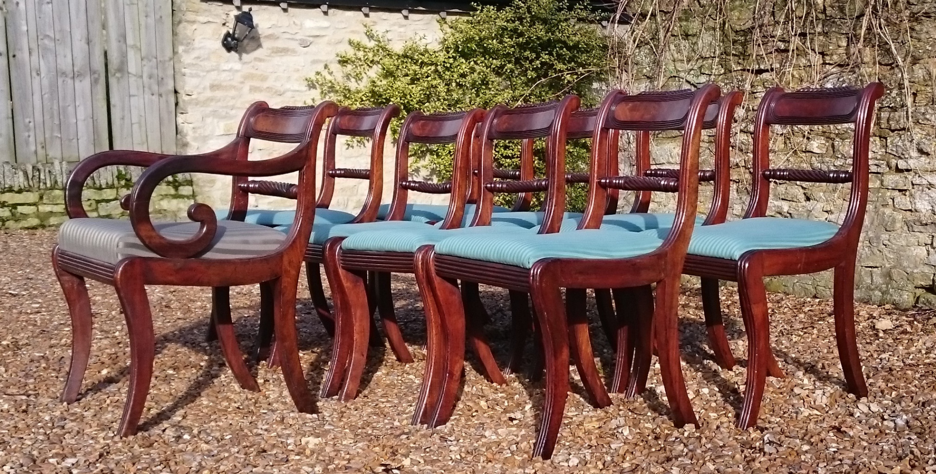 Antique Dining Chairs Sets of 8 Hares Antiques