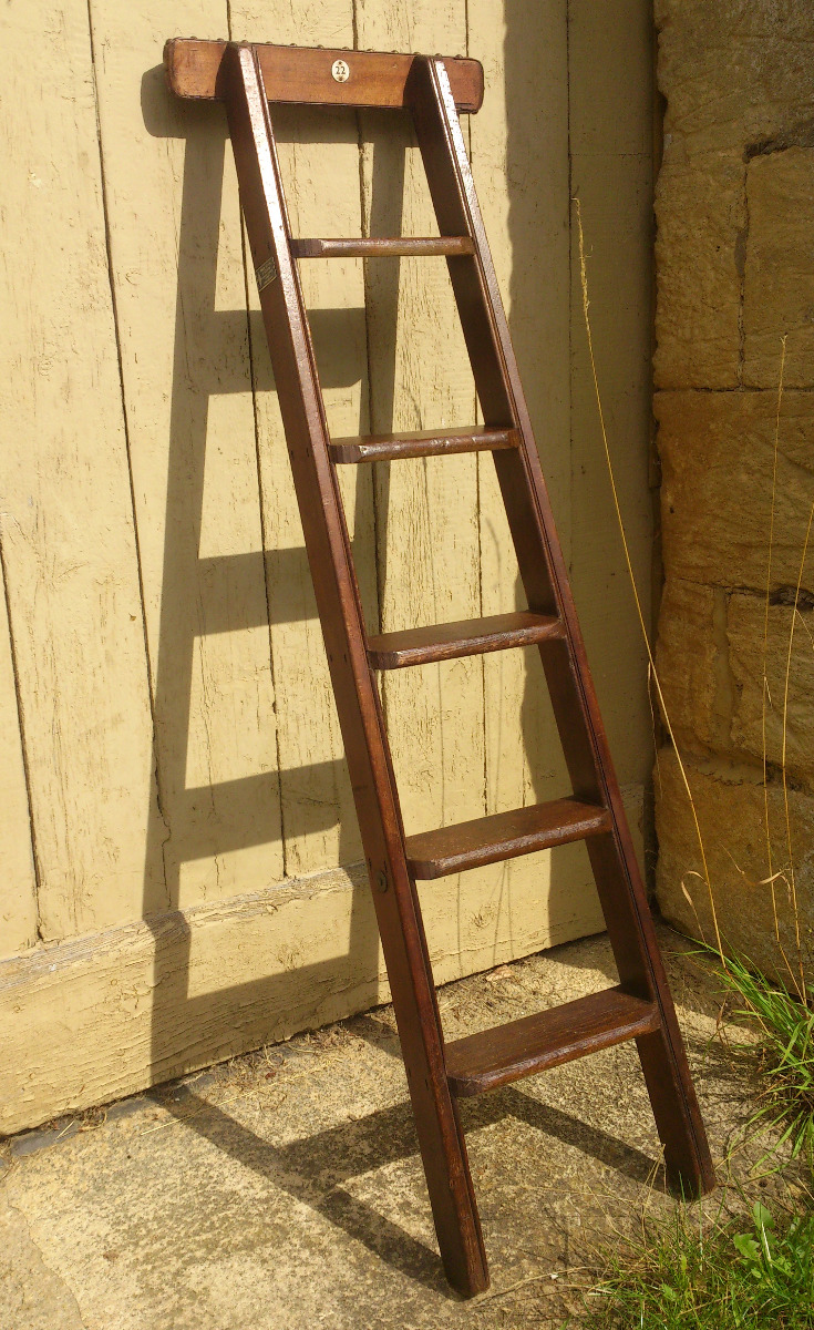 Antique Library Steps Step Ladders Hares Antiques