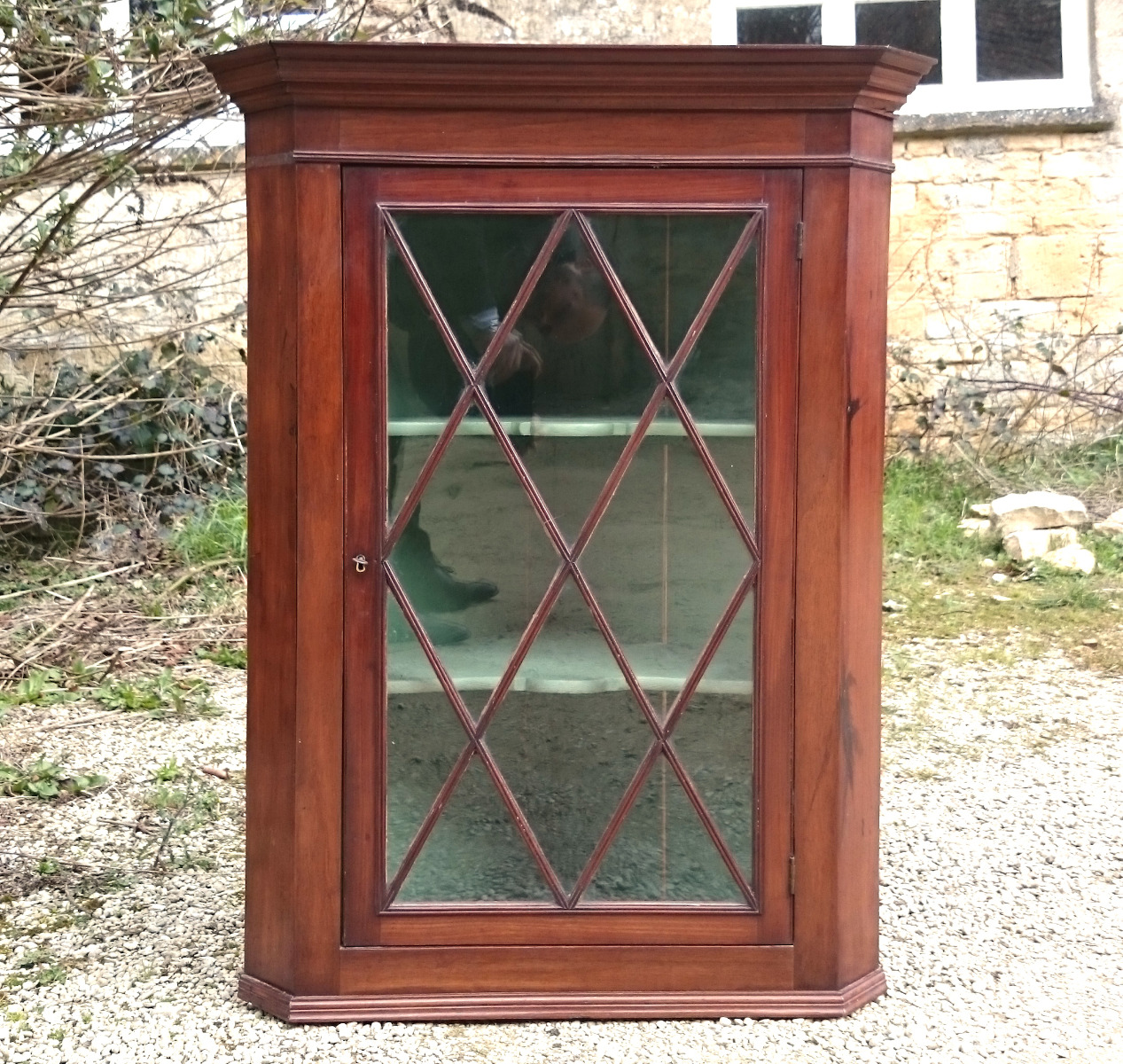 Antique hanging corner cupboard - Antique Corner Cupboards - Hares Antiques