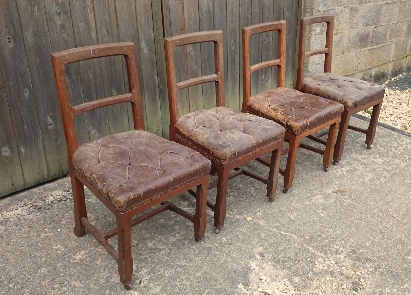 Antique Dining Chairs, Sets of 4 - Hares Antiques