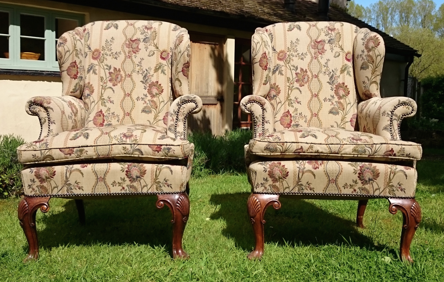 Antique Wing Chairs Hares Antiques