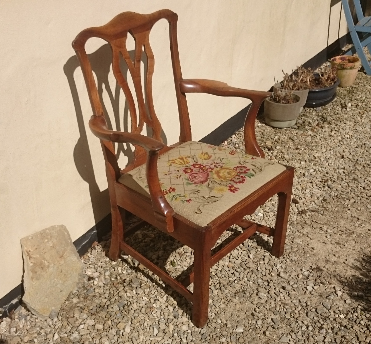 Reclaimed Armchair: Antique Dining Chairs