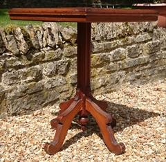 Antique Arts And Crafts Wine Table Pine and Oak 23d 23w 29½h _6.JPG