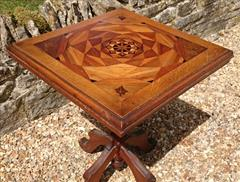 Antique Arts And Crafts Wine Table Pine and Oak 23d 23w 29½h _7.JPG