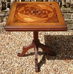 Antique Arts And Crafts Wine Table Pine and Oak 23d 23w 29½h _8.JPG