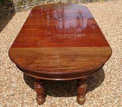Antique Attrib Gillow Extending Mahogany Victorian Dining Table 5ft round 29h one leaf 7ft two leaves 9ft or 11ft or 13ft or 14ft or 16ft with new leaf _30.JPG