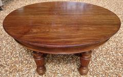 Antique Attrib Gillow Extending Mahogany Victorian Dining Table 5ft round 29h one leaf 7ft two leaves 9ft or 11ft or 13ft or 14ft or 16ft with new leaf _7.JPG