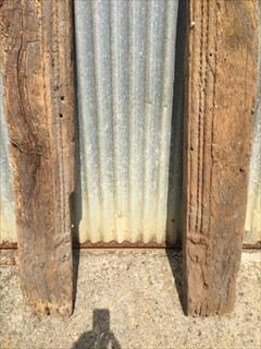 02092017Antique Early Fire Surround Or Door Uprights _4.JPG
