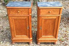 Maple antique bedside cupboards with marble tops2.jpg
