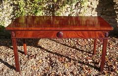0711201719th Century Mahogany Antique Console Table 31h 28½d 61w _1.JPG