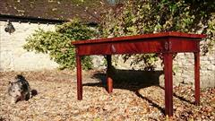 0711201719th Century Mahogany Antique Console Table 31h 28½d 61w _5.jpg