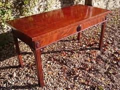 0711201719th Century Mahogany Antique Console Table 31h 28½d 61w _8.JPG