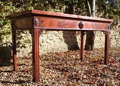 0711201719th Century Mahogany Antique Console Table 31h 28½d 61w _9.JPG