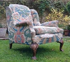 1611201719th Century Antique Howard and Sons Amchair 37d max 32d legframe 31w 18h seat 38½h max _4.JPG