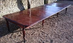 1801201819th Century Extending Antique Dining Table James Winter Mahogany 66w 57½L 177L 29h leaves 24½ 24 24½ 24½ 9½ 12 Leaf Holder 13½w 31½d 74h 111701 _31.JPG