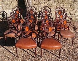 0902201814 Antique Dining Chairs single 38h 19hs 22w 20d carvers 19hs 39½h 27w 23d _4.JPG
