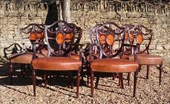 0902201814 Antique Dining Chairs single 38h 19hs 22w 20d carvers 19hs 39½h 27w 23d _8.JPG