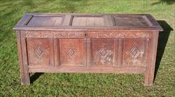 1902201817th Century William And Mary Period Oak Antique Coffer 23d 60w 26h _1.JPG