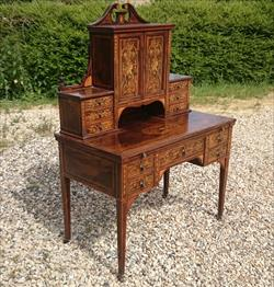 24052018Antique Rosewood Writing Desk 23d 42w 28½h to writing surface 29½h to surface 58h max _1.JPG