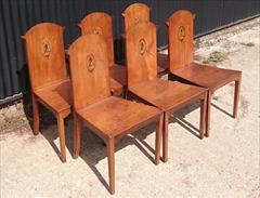 300120191800 Set of Six Hall Chairs 23¾w 23d 17¼ hs 37h _6.JPG