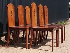 300120191800 Set of Six Hall Chairs 23¾w 23d 17¼ hs 37h _8.JPG