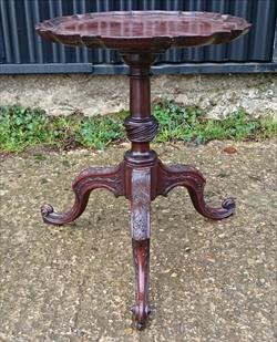2703201918th Century Antique Tripod Table 15W 18H 2.JPG