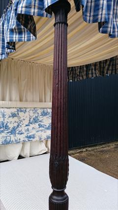 0604201918th Century Four Poster Bed 87H 89L 57W 83L Inside 8.JPG
