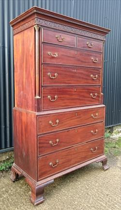 06042019 18th Century Antique Chest On Chest 24d 48w 74h 16.JPG