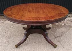 251120191820 Antique Regency Oak Breakfast Centre Table 53x54w 28½h _7.JPG