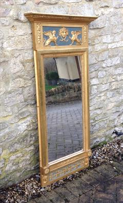 Regency gilded and decorated antique pier glass mirror.jpg