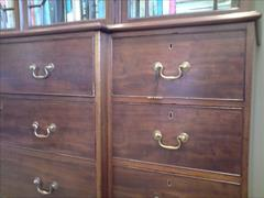 George III mahogany and glazed antique breakfront secretaire bookcase4.jpg