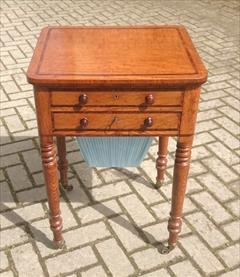 Oak and rosewood antique sewing table.jpg