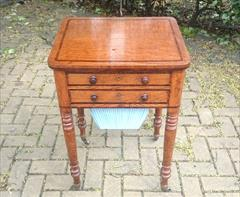 Oak and rosewood antique sewing table3.jpg
