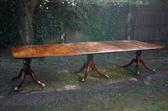 George III Cuban mahogany three pillar antique dining table1.jpg