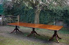 George III Cuban mahogany three pillar antique dining table5.jpg