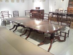 George III mahogany three pedestal antique dining table6.jpg