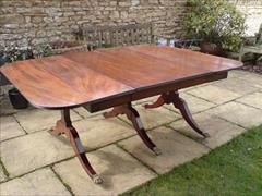 George III period mahogany Sunderland antique dining table.jpg
