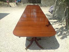 six pedestal mahogany antique dining table5.jpg