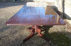 Mahogany antique three pedestal dining table2.jpg