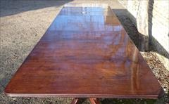 Mahogany antique three pedestal dining table3.jpg