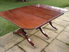 George III period mahogany Sunderland antique dining table4.jpg