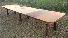 Satin birch antique dining table1.jpg