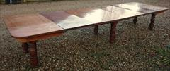 Satin birch antique dining table4.jpg