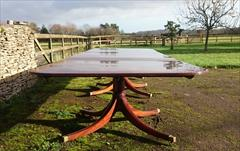 Three Pedestal Antique Dining Table 66 w 18 ft1 or 217 long 15 ft or 178 long min 28 half h _16.JPG