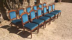 Set of 12 comfortable antique dining chairs.jpg
