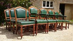 Set of 18 oak dining chairs made by Thomas Fox and  Co London1.jpg