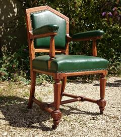 Set of 18 oak dining chairs made by Thomas Fox and  Co London4.jpg