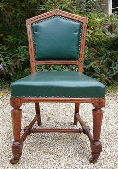 Set of 18 oak dining chairs made by Thomas Fox and  Co London6.jpg