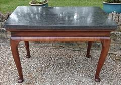 Antique Console Table Belgian Fossil 116cmw 70d maxatfeet 63cmd at knee 76h and 102x58cm at marble _1.JPG