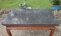 Antique Console Table Belgian Fossil 116cmw 70d maxatfeet 63cmd at knee 76h and 102x58cm at marble _3.JPG